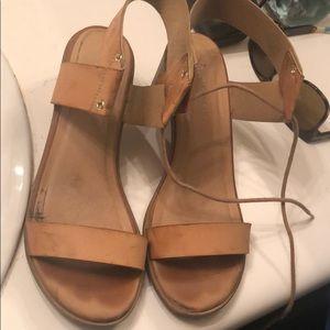 Beige heeled sandals